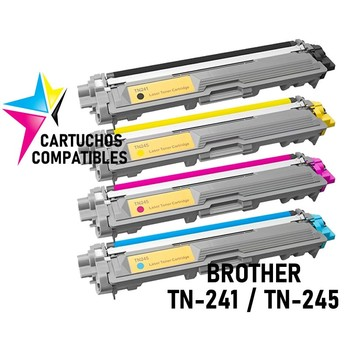 BROTHER TN-241 TN-245 Pack 4 tonerio DCP-9020CDW DCP-9022CDW DCP-9015CDW DCP-9017CDW HL-3140CW HL-3150CDW HL-3170CDW HL-3152CDW